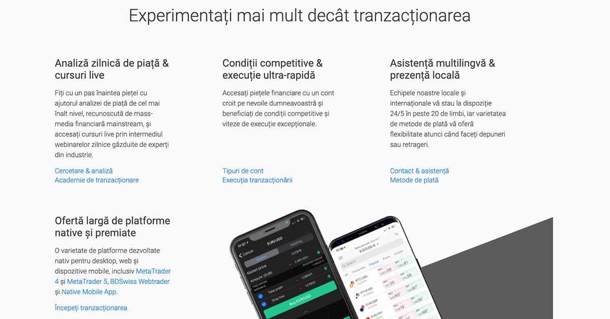 BdSwiss - avantajele platformei de tranzactionare