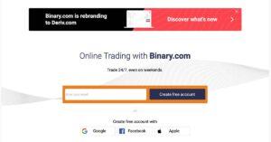 Binary.com - Deschide cont