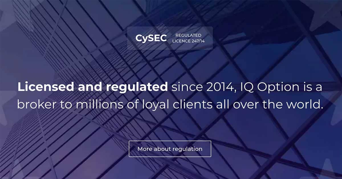 IQ Option - broker reglementat CySEC