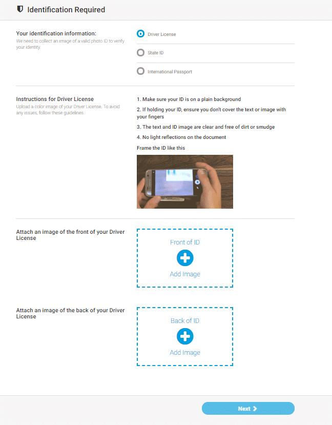 MoneyGram - date de autentificare