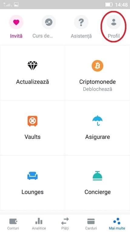 Revolut - editarea profilului