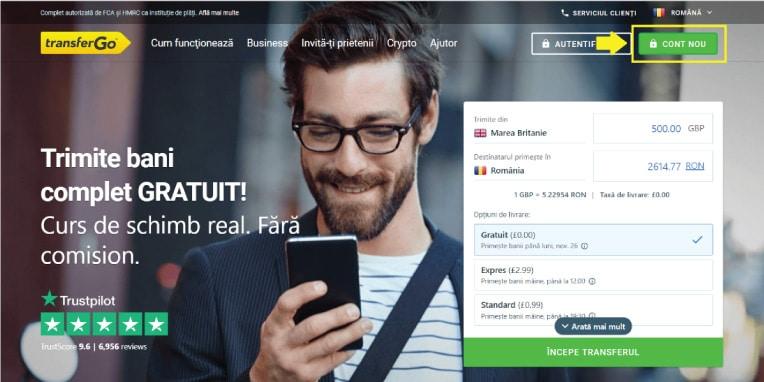 TransferGo - Trimite bani complet gratuit