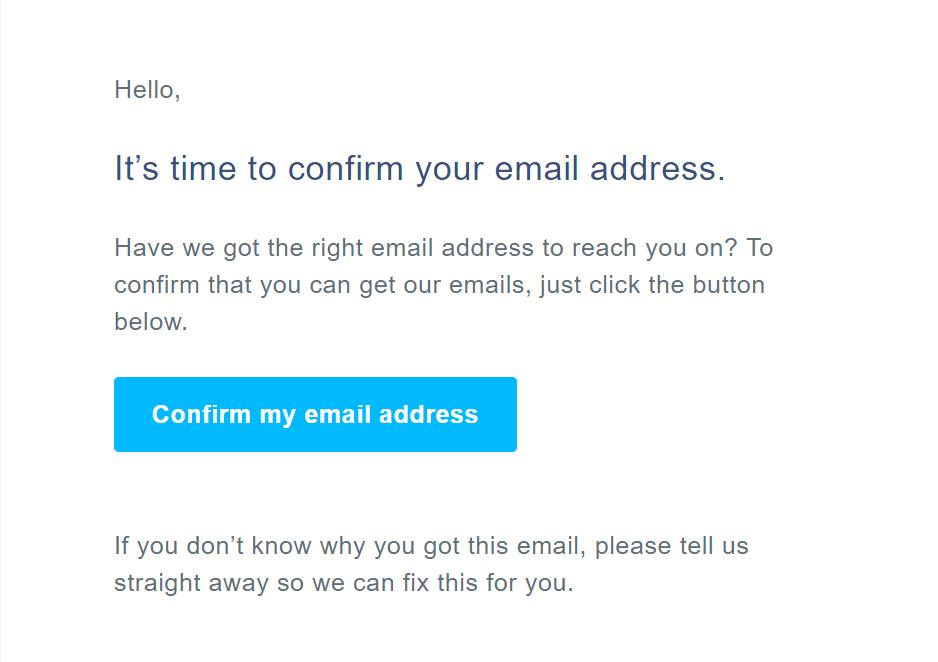 TransferWise - Confirma adresa de mail