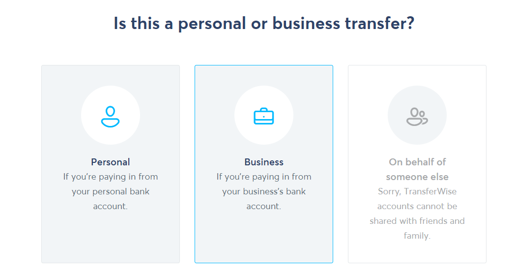 TransferWise - Cont personal sau business