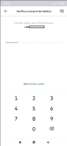 Monese - verificarea numarului de telefon
