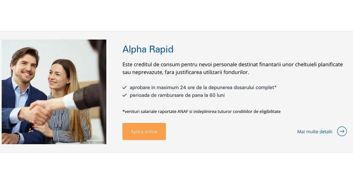 Alpha Bank - credit de nevoi personale